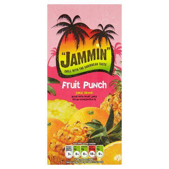 Jammin Fruit Punch Juice Drink 1 Litre
