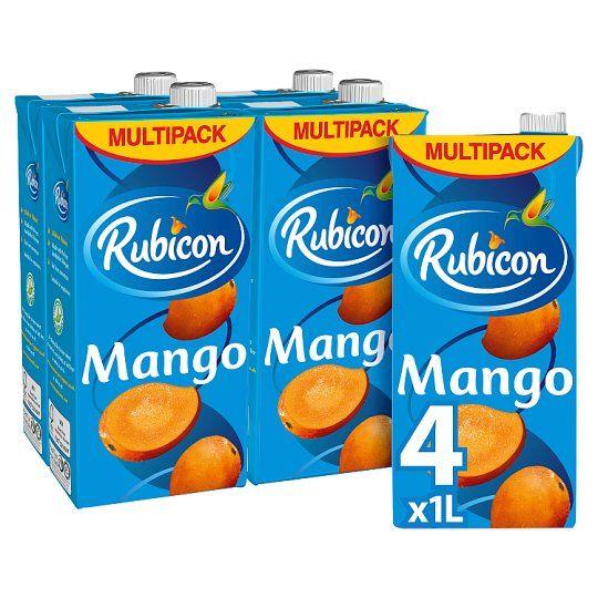 Rubicon Still Mango Juice Drink 4X1 Litre Carton