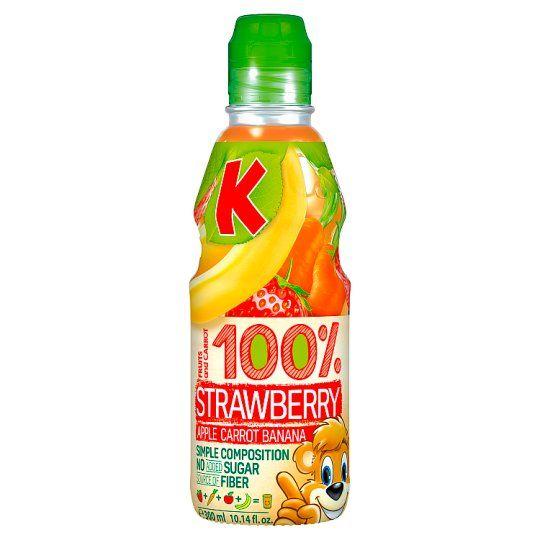Kubus Banana & Strawberry 100% Drink 300ml
