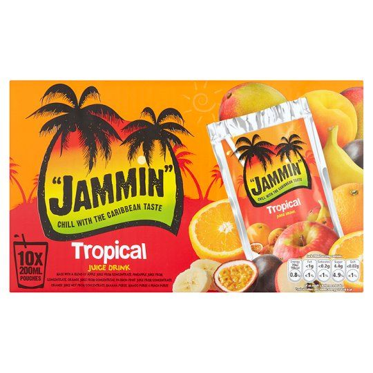 Jammin Tropical Fruit Juice Drinks 10X200ml