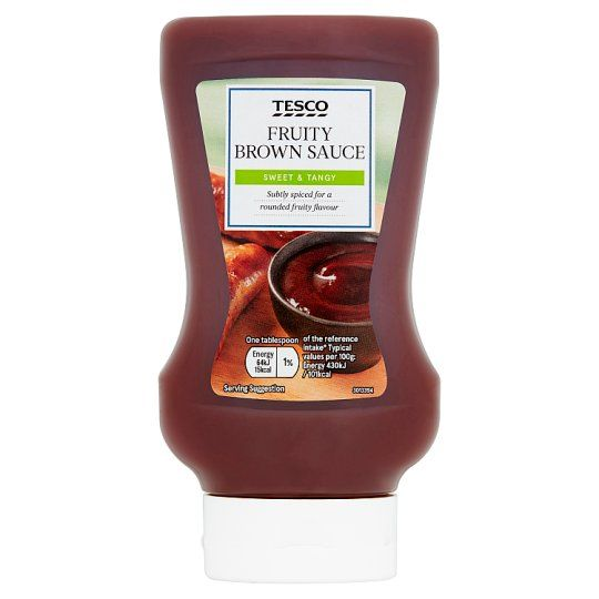 Tesco Squeezy Top Down Fruity Brown Sauce 480g