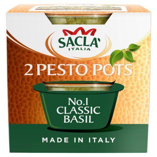 Sacla Classic Basil Pesto 2 Pot 90g