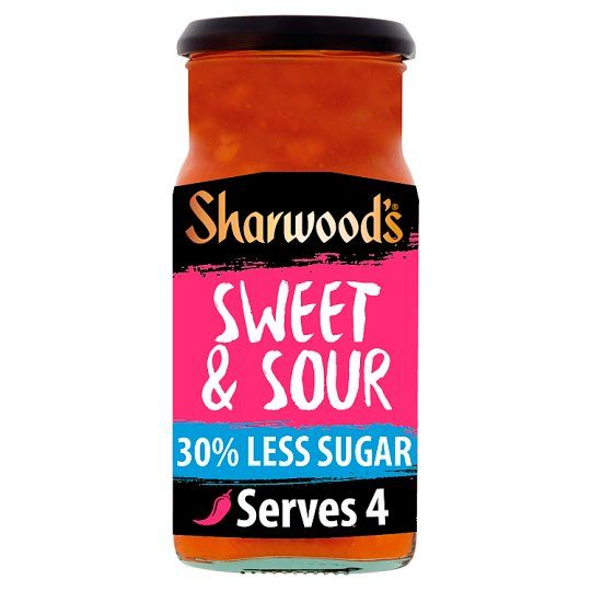 Sharwoods Sweet Sour 30% Reduced Sugar Cooking Sauce 425g