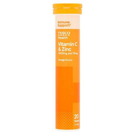 Tesco Effervescent Vitamin C Plus Zinc X 20