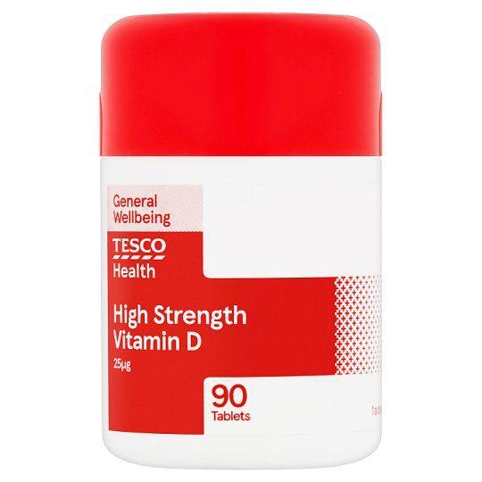 Tesco High Strength Vitamin D 90S