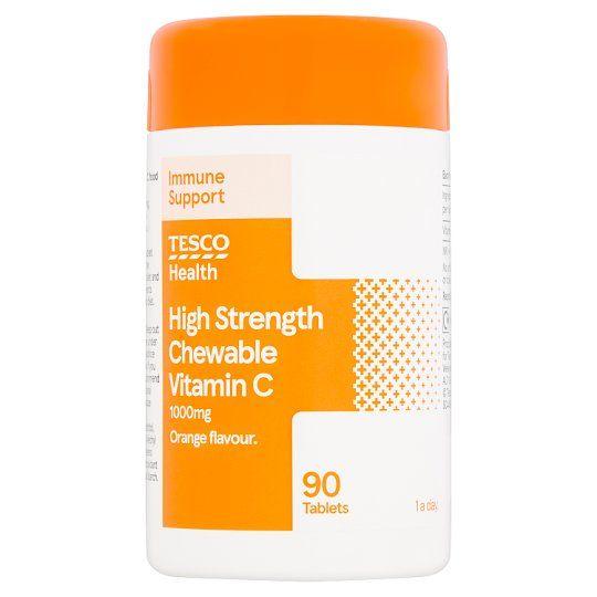 Tesco Chewable Vitamin C 1000Mg 90'S
