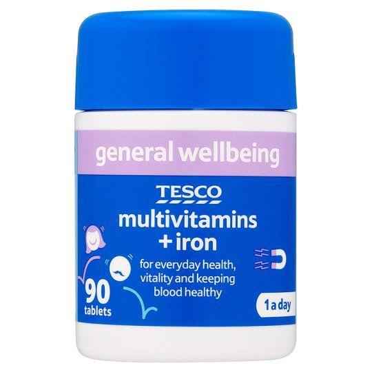 Tesco Multivitamins Plus Iron X 90
