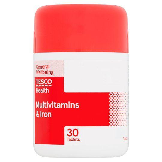 Tesco Multivitamins Plus Iron X 30