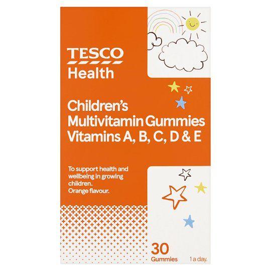 Tesco Childrens Jelly Vitamins Acde Orange X 30