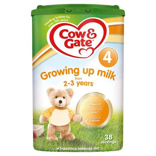 6 x Cow And Gate 4 Growing Up Milk Powder 2 to 3 Years 800g - Including Delivery to China