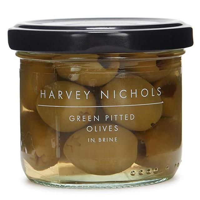 Harvey Nichols Green Pitted Olives in Brine 100g