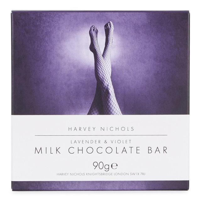 Harvey Nichols Lavender & Violet Milk Chocolate Bar 90g