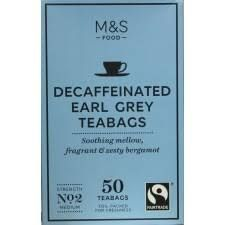 Marks and Spencer Decaffeinated Earl Grey Tea 50 Teabags