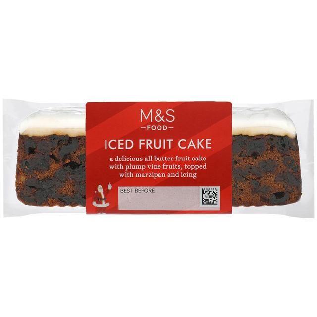 Marks and Spencer Iced Fruit Cake 400g
