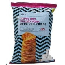 Marks And Spencer Asian Bbq Pulled Pork Ridge Cut Crisps 135g