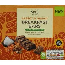 Marks And Spencer Carrot And Walnut Breakfast Bars X 3