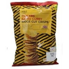 Marks And Spencer Chicken Katus Curry Ridge Cut Crisps 135g