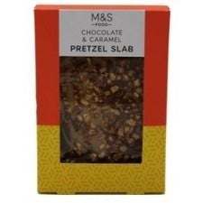 Marks And Spencer Chocolate And Caramel Pretzels slab 85g