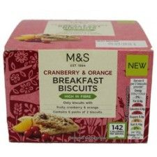 Marks And Spencer Cranberry And Orange Breakfast Biscuits 180g