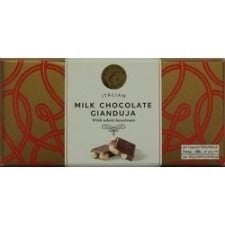 Marks And Spencer Italian Gianduja Dark Chocolate With Hazelnuts Bar 65g