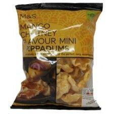 Marks And Spencer Mango Chutney Flavour Mini Poppadums 50g