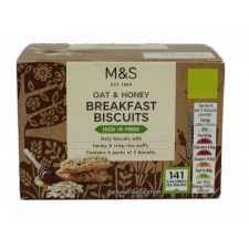 Marks And Spencer Oat And Honey Breakfast Biscuits 180g