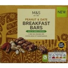 Marks And Spencer Peanut And Date Breakfast Bars X 3