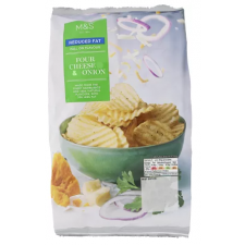 Marks And Spencer Reduced Fat Four Cheese And Onion Crinkles Crisps 150g