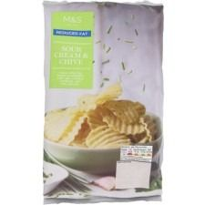 Marks And Spencer Reduced Fat Full On Flavour Sour Cream And Chive Crinkle Cut Crisps 40g