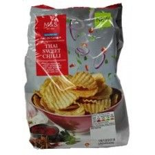 Marks And Spencer Reduced Fat Full On Flavour Thai Sweet Chilli Crinkle Cut Crisps 150g