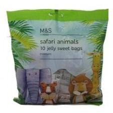 Marks And Spencer Safari Animals Jelly Sweet 10 Bags 120G