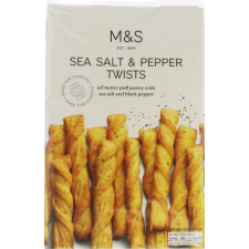 Marks And Spencer Sea Salt And Pepper Twists 125g