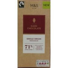 Marks And Spencer Single Origin Madagascar 71% Dark Chocolate Bar 100g