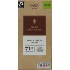 Marks And Spencer Single Origin Sao Tome 71% Dark Chocolate Bar 100g