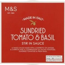 Marks And Spencer Sun dried Tomato And Basil Stir In Sauce 150g