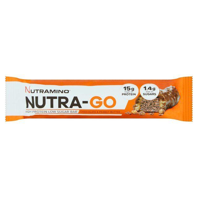 Nutra-Go Low Sugar Chocolate Peanut Butter Protein Bar 48g