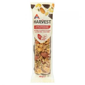 Atkins Harvest Dark Chocolate Sea Salt Caramel Bar 40g