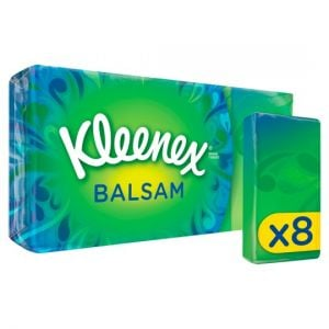 Kleenex Balsam Pocket Tissues 8 Pack 9S