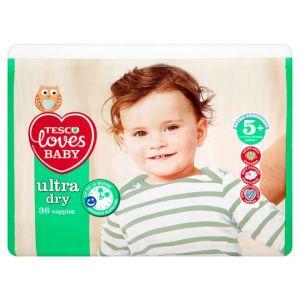 Tesco Loves Baby Ultra Dry Size 5+ Economy Pack 36