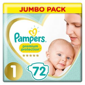 Pampers New Baby Size 1 Jumbo Pack 72 Nappies