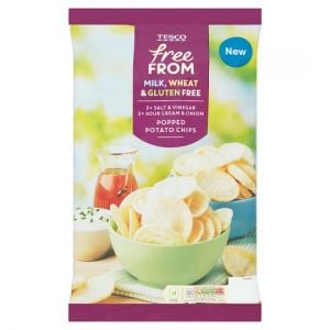 Tesco Free From Popped Potato Chips Variety 4 X 23g