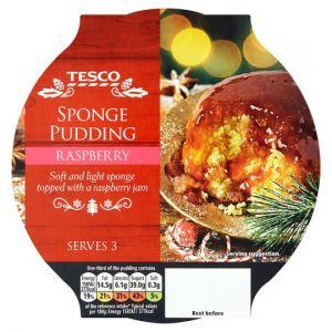 Tesco Raspberry Sponge 300g