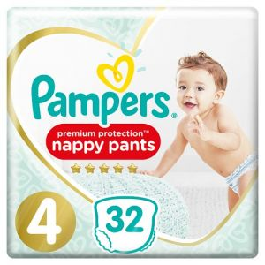 Pampers Active Fit Pants Size 4 Essential Pack 32 Nappies
