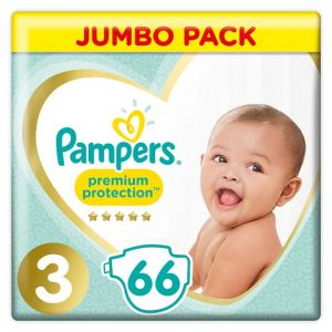 Pampers New Baby Size 3 Jumbo Pack 66 Nappies