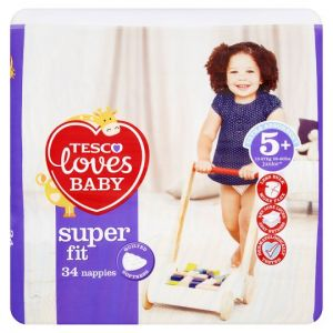 Tesco Loves Baby Superfit Size 5+ Economy Pack 34