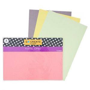 Tesco Go Create Pastel Card X8 Sheet