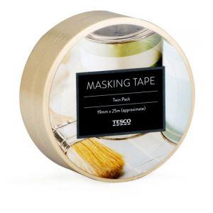 Tesco Basics Masking Tape Twin Pack