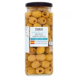 Tesco Pitted Green Olives Reduce Salt 340g