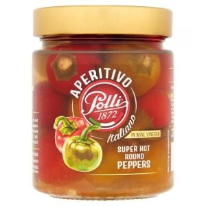 Polli Hot Round Peppers 275g