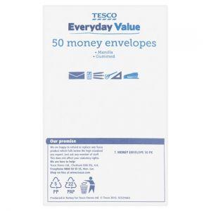 Tesco Money Envelopes 50 Pack
